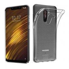 Akcija! Xiaomi Pocophone F1 dėklas Ultra slim 0,3mm silikoninis permatomas