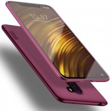 xiaomi pocophone f1 DĖKLAS X-LEVEL GUARDIAN SILIKONINIS 0,6MM BORDO