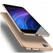 Xiaomi redmi 4A dėklas X-LEVEL GUARDIAN silikonas aukso spalvos
