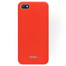 xiaomi redmi 6a dėklas silicone cover silikonas raudonas