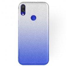xiaomi redmi 7 dėklas glitter silikonas sidabrinis-mėlynas