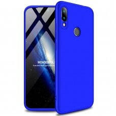 Akcija! Xiaomi Mi A2 Lite HURTEL dėklas dvipusis 360 plastikas mėlynas
