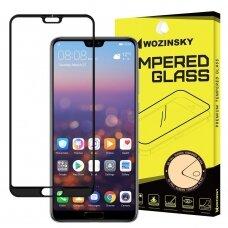 Akcija! Huawei p20 pro lenktas grūdintas apsauginis stiklas wozinsky H Pro 5D FULL GLUE juodais kraštais