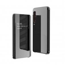 Samsung galaxy a70 atverčiamas dėklas Flip View veidrodiniu-permatomu dangteliu juodas