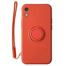 Xiaomi redmi 9a dėklas su magnetu Pastel Ring raudonas