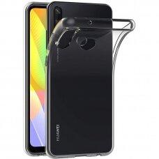 Akcija! Huawei y6p DĖKLAS HIGH CLEAR 1,0MM SILIKONAS SKAIDRUS