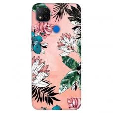 """Xiaomi Redmi 9C TPU dėklas unikaliu dizainu 1.0 mm """"u-case Airskin Flowers 1 design"""""""