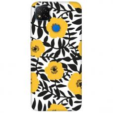 """Xiaomi Redmi 9C TPU dėklas unikaliu dizainu 1.0 mm """"u-case Airskin Flowers 2 design"""""""