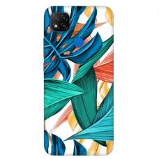 """Xiaomi Redmi 9C TPU dėklas unikaliu dizainu 1.0 mm """"u-case Airskin Leaves 1 design"""""""