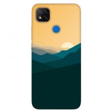 """Xiaomi Redmi 9C TPU dėklas unikaliu dizainu 1.0 mm """"u-case Airskin Mountains 2 design"""""""