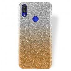 xiaomi redmi 7 dėklas glitter silikonas sidabrinis-auksinis