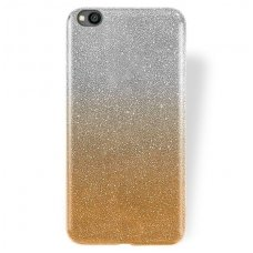 xiaomi redmi go dėklas glitter silikonas sidabrinis-auksinis