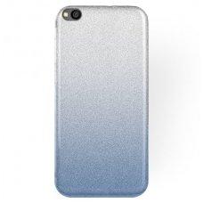 xiaomi redmi go dėklas glitter silikonas sidabrinis-mėlynas