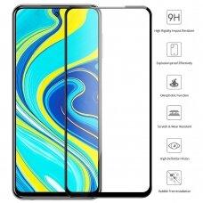 xiaomi redmi note 9s / 9 pro ekrano Apsauginis grūdintas stikliukas 5D CF Full Glue juodais kraštais