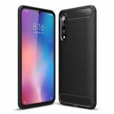 Xiaomi redmi mi 9 dėklas carbon lux silikonas juodas