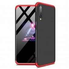 Samsung galaxy a70 HURTEL dėklas dvipusis 360 plastikas raudonas-juodas