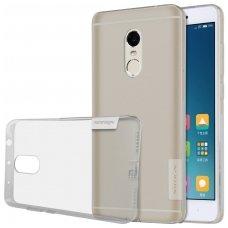 Xiaomi redmi note 4 / 4x dėklas nillkin nature 0,6mm TPU pilkas permatomas