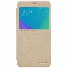 Xiaomi Redmi Note 5A Atverčiamas dėklas Nillkin Sparkle PC plastikas ir PU oda  aukso spalvos