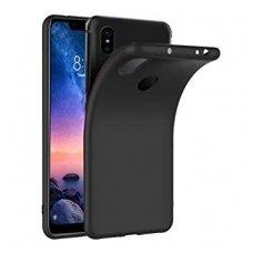 xiaomi redmi note 7  dėklas silicone cover silikonas juodas