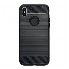 Iphone xs max dėklas carbon lux silikonas juodas