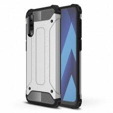 Akcija ! Samsung galaxy a70 dėklas Hybrid Armor  TPU+PC plastikas sidabrinis