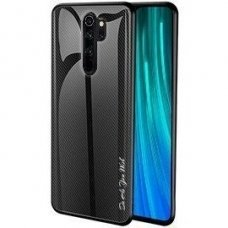 Xiaomi redmi note 8 pro dėklas Stripped Glass juodas