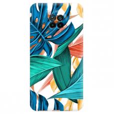 """Xiaomi Redmi Note 9T TPU dėklas unikaliu dizainu 1.0 mm """"u-case Airskin Leaves 1 design"""""""