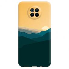 """Xiaomi Redmi Note 9T TPU dėklas unikaliu dizainu 1.0 mm """"u-case Airskin Mountains 2 design"""""""