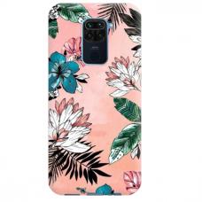 """Xiaomi Redmi note 9 TPU dėklas unikaliu dizainu 1.0 mm """"u-case Airskin Flowers 1 design"""""""