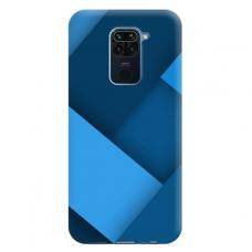 """Xiaomi Redmi Note 9 TPU dėklas unikaliu dizainu 1.0 mm """"u-case Airskin Blue design"""""""