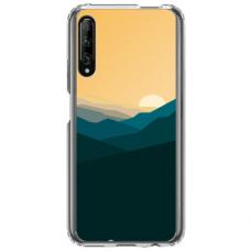 "Huawei P Smart Pro TPU dėklas unikaliu dizainu 1.0 mm ""u-case Airskin Mountains 2 design"""