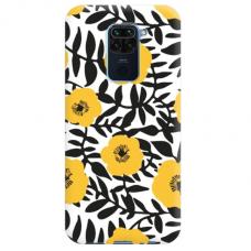 """Xiaomi Redmi note 9 TPU dėklas unikaliu dizainu 1.0 mm """"u-case Airskin Flowers 2 design"""""""