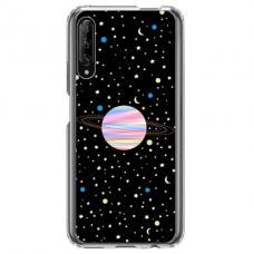 "Huawei P smart pro TPU dėklas unikaliu dizainu 1.0 mm ""u-case Airskin Planet design"""