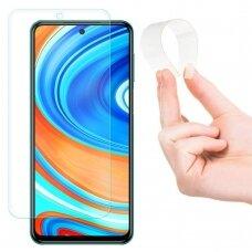 Xiaomi redmi note 9s / 9 pro apsauginis grūdintas stiklas Wozinsky Full Cover Flexi Nano Glass Hybrid skaidri