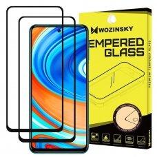 Akcija! xiaomi redmi note 9s / 9 pro ekrano Apsauginis grūdintas stikliukas Wozinsky 5D CF Full Glue juodais kraštais 2 vnt