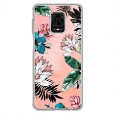 """Xiaomi Redmi Note 9s/ 9 Pro TPU dėklas unikaliu dizainu 1.0 mm """"u-case Airskin Flowers 1 design"""""""