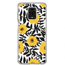 """Xiaomi Redmi Note 9s/ 9 Pro TPU dėklas unikaliu dizainu 1.0 mm """"u-case Airskin Flowers 2 design"""""""