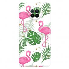 """Xiaomi Redmi Note 9T TPU dėklas unikaliu dizainu 1.0 mm """"u-case Airskin Flamingos design"""""""