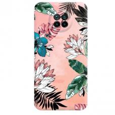 """Xiaomi Redmi Note 9T TPU dėklas unikaliu dizainu 1.0 mm """"u-case Airskin Flowers 1 design"""""""