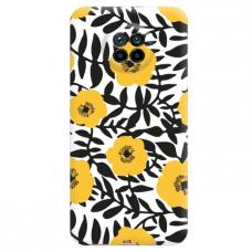 """Xiaomi Redmi Note 9T TPU dėklas unikaliu dizainu 1.0 mm """"u-case Airskin Flowers 2 design"""""""