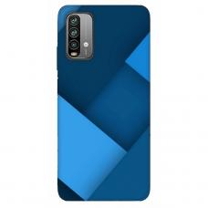 """Xiaomi Redmi 9T TPU dėklas unikaliu dizainu 1.0 mm """"u-case Airskin Blue design"""""""