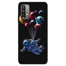 """Xiaomi Redmi 9T TPU dėklas unikaliu dizainu 1.0 mm """"u-case Airskin Cosmo design"""""""