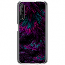 "Huawei P smart pro TPU dėklas unikaliu dizainu 1.0 mm ""u-case Airskin Feather design"""