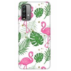"""Xiaomi Redmi 9T TPU dėklas unikaliu dizainu 1.0 mm """"u-case Airskin Flamingos design"""""""