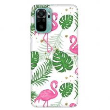 """Xiaomi Redmi Note 10/ 10s TPU dėklas unikaliu dizainu 1.0 mm """"u-case Airskin Flamingos design"""""""