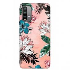 """Xiaomi Redmi 9T TPU dėklas unikaliu dizainu 1.0 mm """"u-case Airskin Flowers 1 design"""""""