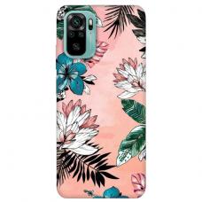 """Xiaomi Redmi Note 10/ 10s TPU dėklas unikaliu dizainu 1.0 mm """"u-case Airskin Flowers 1 design"""""""