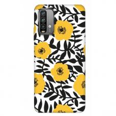 """Xiaomi Redmi 9T TPU dėklas unikaliu dizainu 1.0 mm """"u-case Airskin Flowers 2 design"""""""