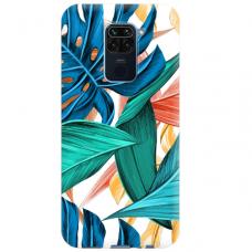 """Xiaomi Redmi Note 9 TPU dėklas unikaliu dizainu 1.0 mm """"u-case Airskin Leaves 1 design"""""""