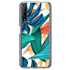 "Huawei P smart pro TPU dėklas unikaliu dizainu 1.0 mm ""u-case Airskin Leaves 1 design"""